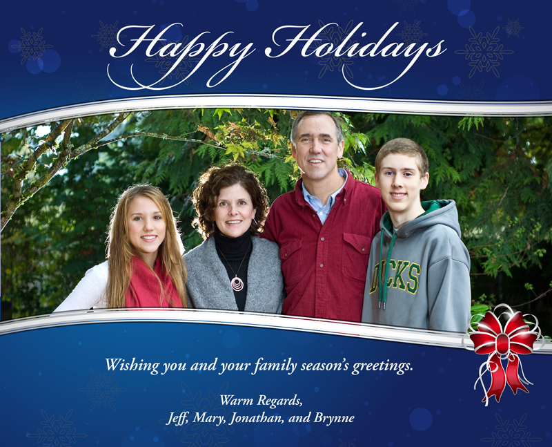 Season's greetings from the Merkley family.