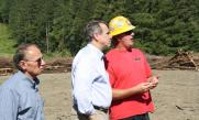 Senator Merkley Tours the Coquille Tribe Biomass Project